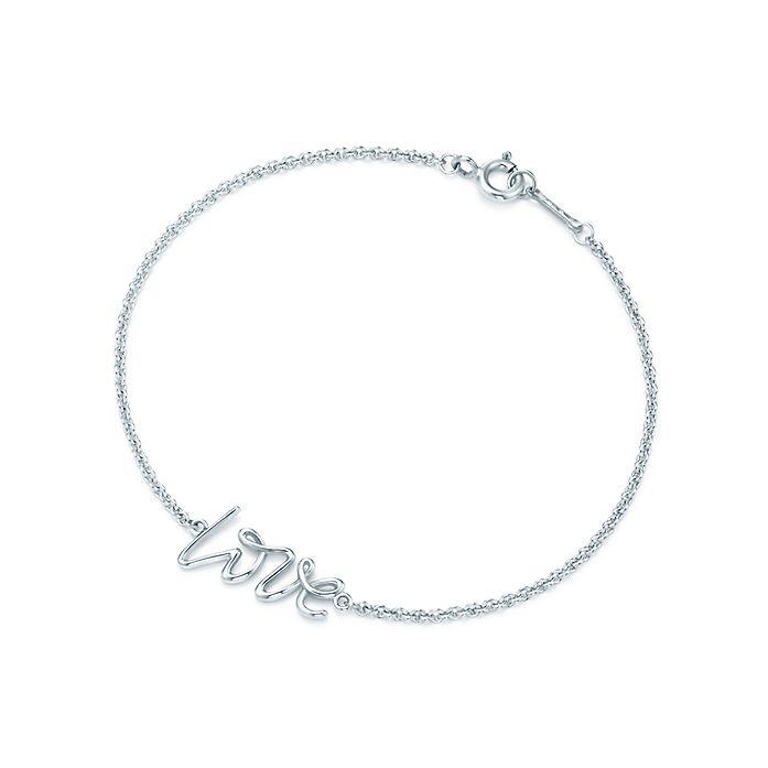 2538d527c Paloma's Graffiti love bracelet in sterling silver, mini. | Tiffany ...