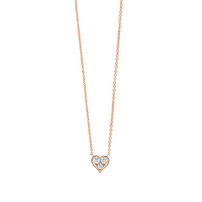 d3b4cc203 Pendant in 18k rose gold with diamonds. | Tiffany & Co.