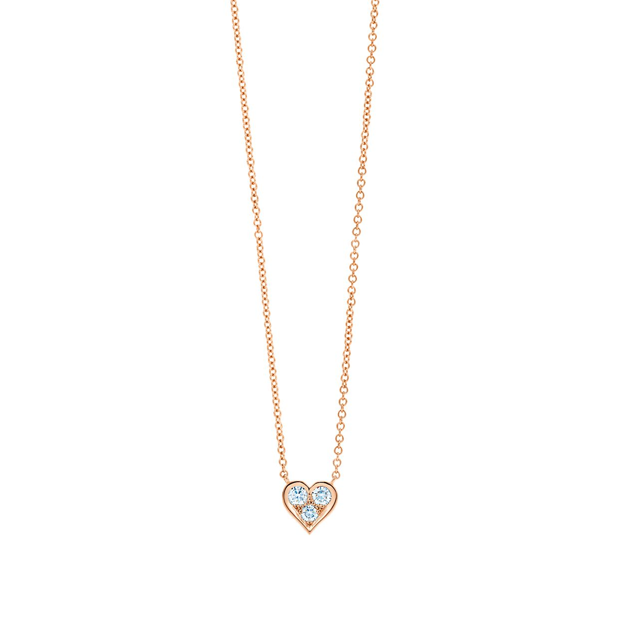 Pendant in 18k rose gold with diamonds tiffany co diamond heart pendant diamond heart pendant aloadofball Choice Image