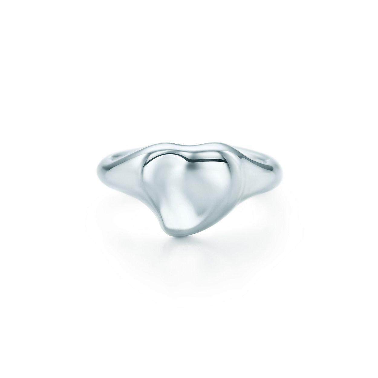 Elsa Peretti Full Heart ring in sterling silver, 11 mm wide - Size 6 1/2 Tiffany & Co.