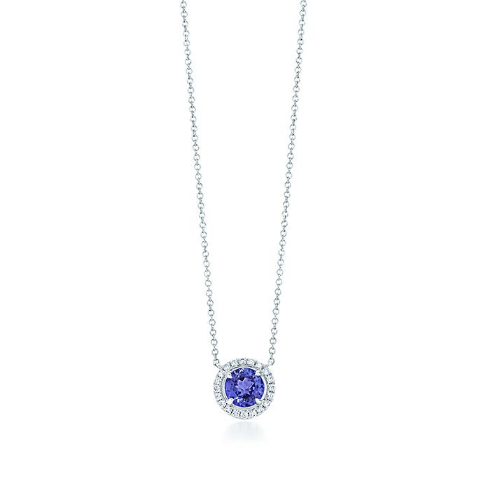 5d3daa69b Tiffany Soleste Pendant in platinum with a round tanzanite ...