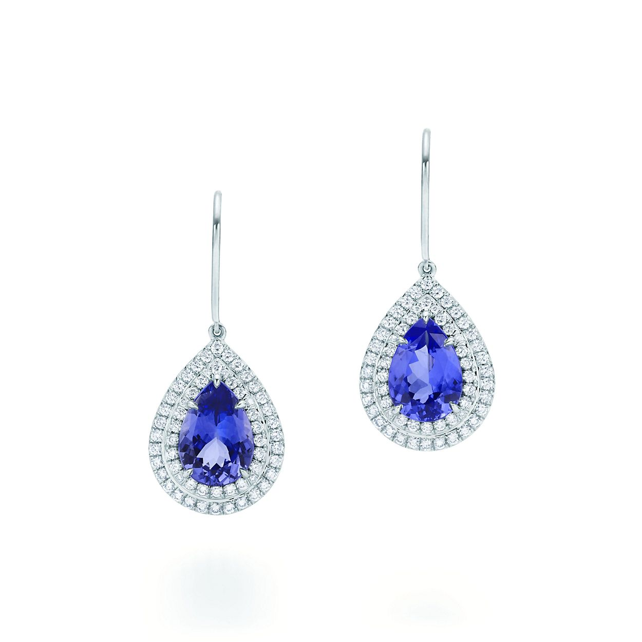 52e4ba42e Completely new Tiffany Soleste earrings in platinum with tanzanites and  diamonds QR43