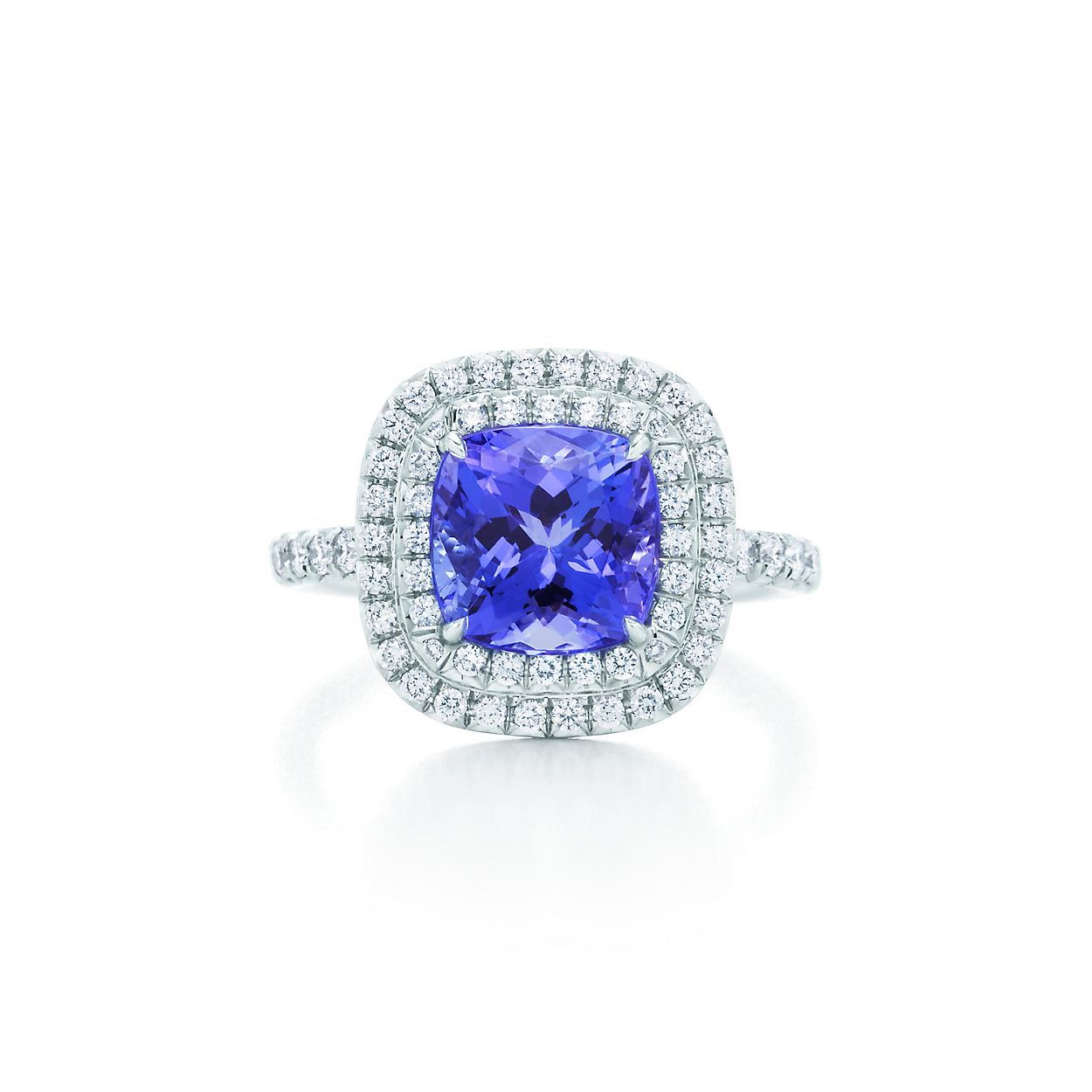 in ring bands white gold tanzanite halo tw diamond with