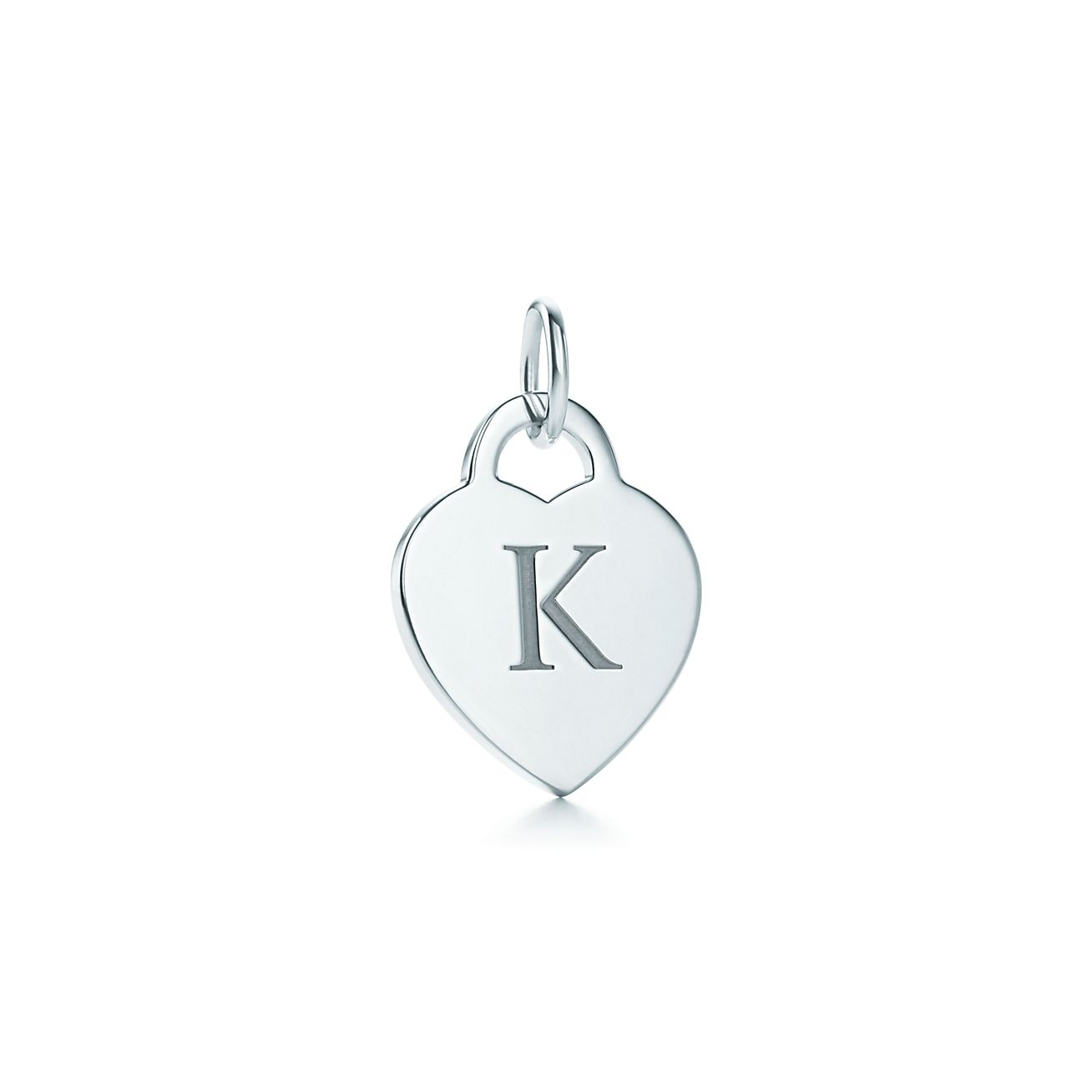 Alphabet heart tag letter W charm in sterling silver Letters A-Z available - Size W Tiffany & Co.