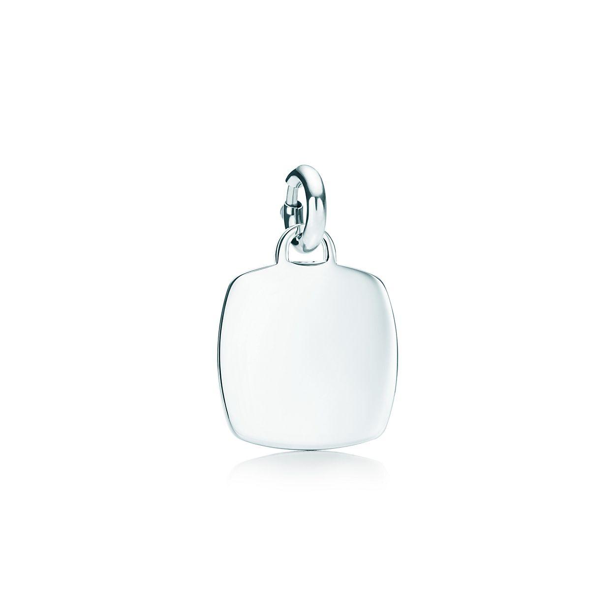 Cushion-shaped charm in sterling silver, medium Tiffany & Co.