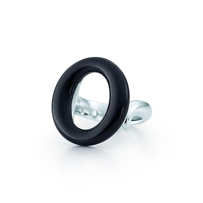 9c539ed6d Elsa Peretti® Sevillana™ Ring in sterling silver with black jade ...