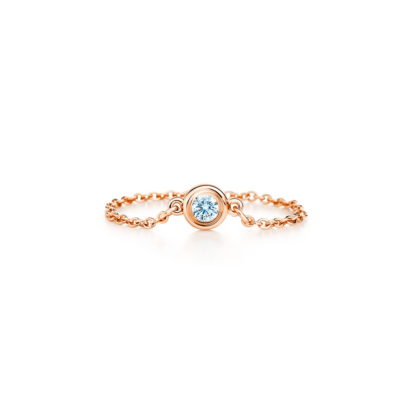 Elsa Peretti Diamonds by the Yard ring in 18k rose gold - Size 4 Tiffany & Co.