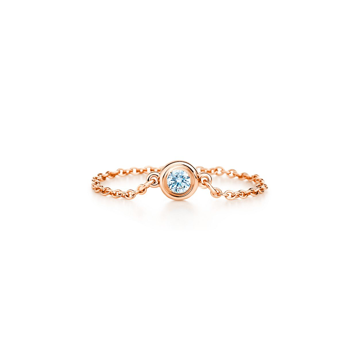 Elsa Peretti Diamonds by the Yard ring in 18k rose gold - Size 4 Tiffany & Co. XX1cjC6062