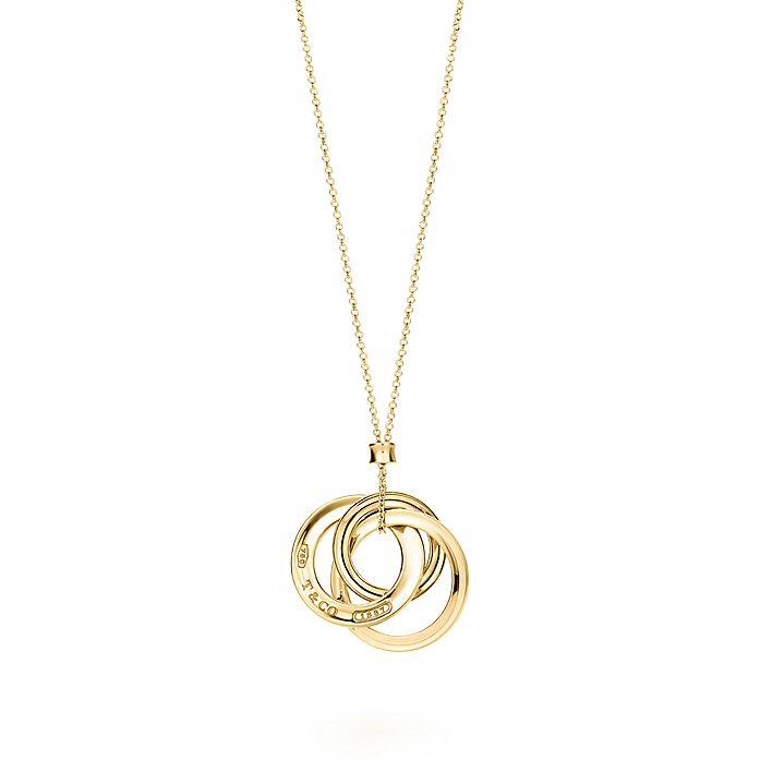 8776af935 Tiffany 1837® interlocking circles pendant in 18k gold, small ...