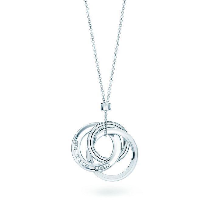 394f7f0c9 Tiffany 1837™ interlocking circles pendant on a 18