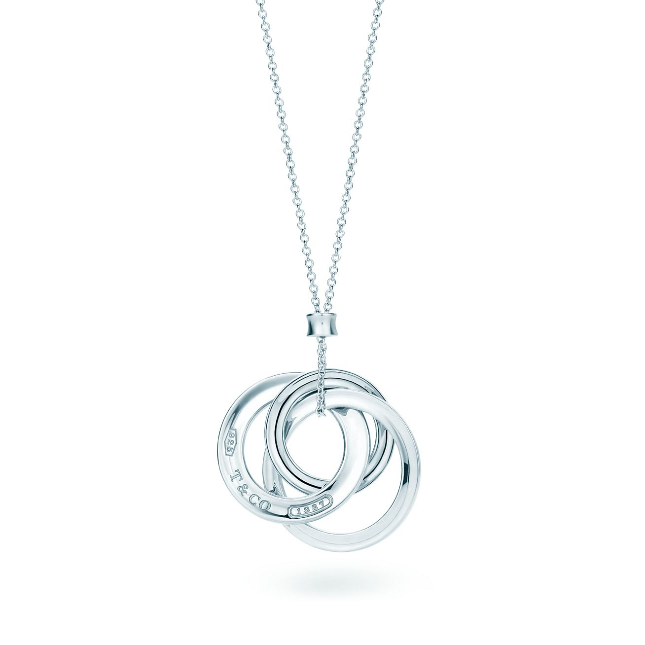 Tiffany 1837 interlocking circles pendant on a 18 chain tiffany tiffany 1837interlocking circles pendant aloadofball Images