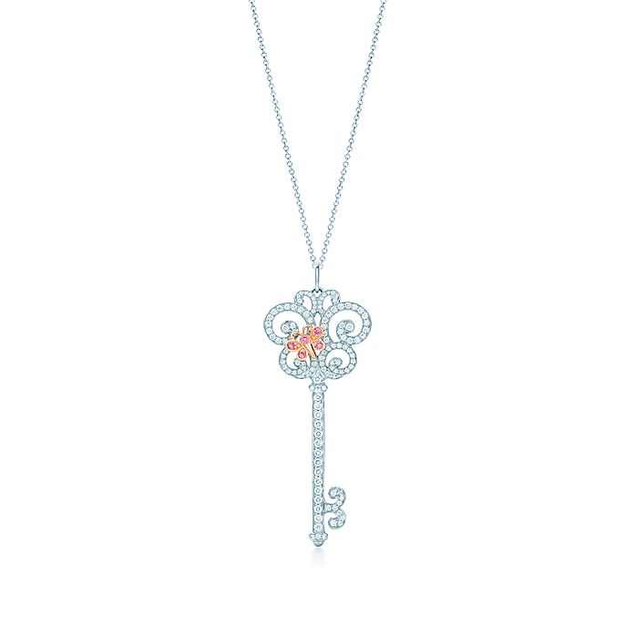 89339d0f8 Tiffany Keys Enchant butterfly pendant in platinum and rose gold ...