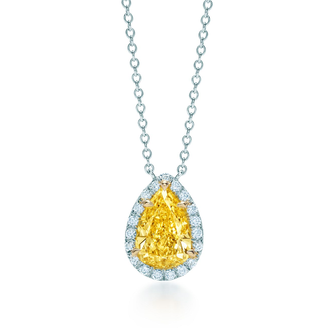 Tiffany soleste yellow and white diamond pendant in platinum and 18k tiffany solesteyellow diamond pendant aloadofball Image collections