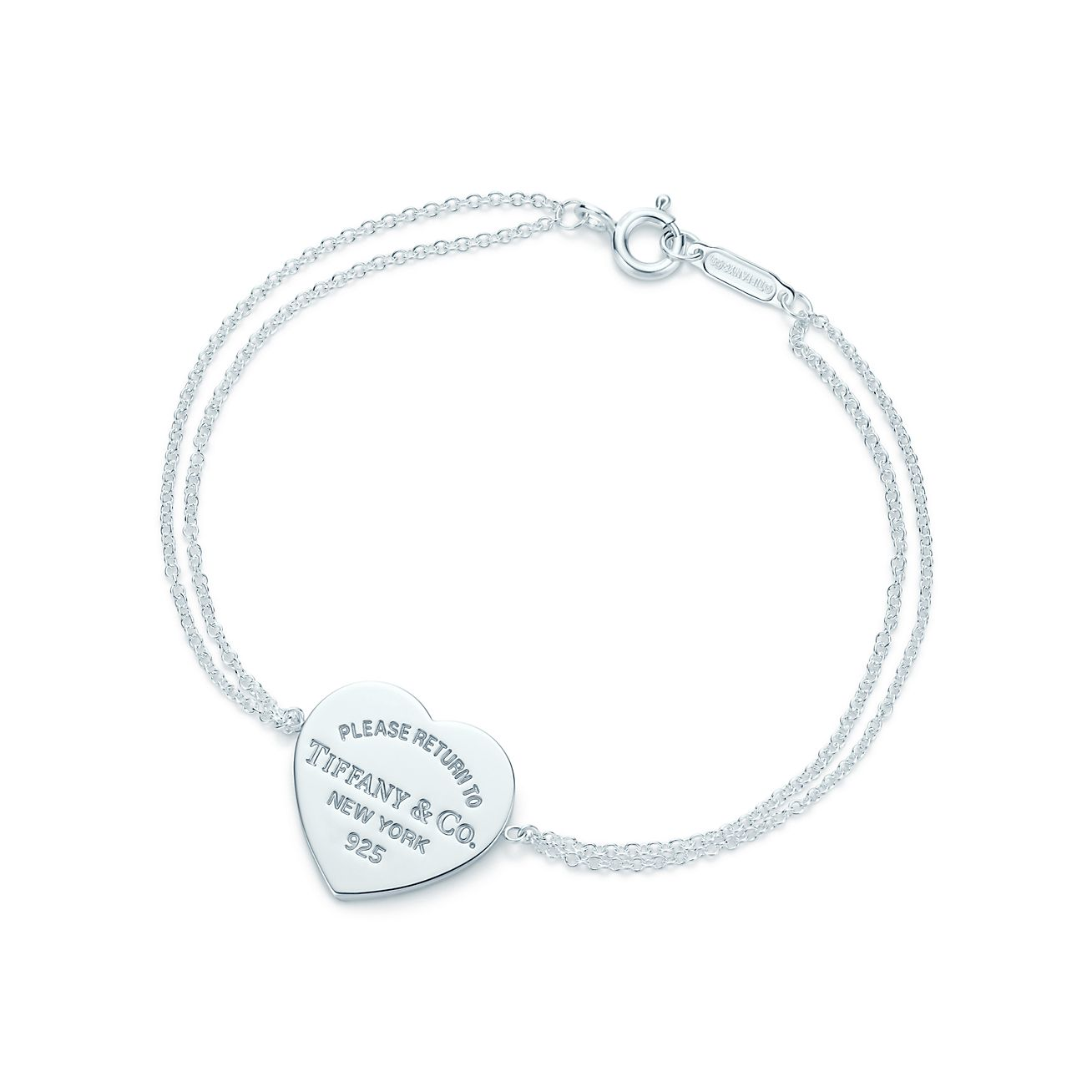 Return to Tiffany mini round tag in sterling silver on a bead bracelet - Size 6.5 in Tiffany & Co.