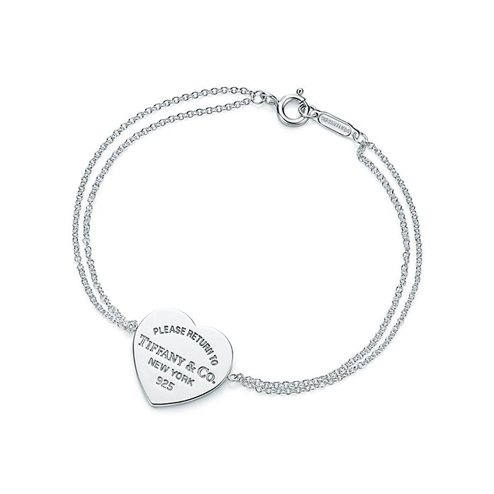 c0c03790a Return to Tiffany™ heart tag bracelet in sterling silver, medium ...