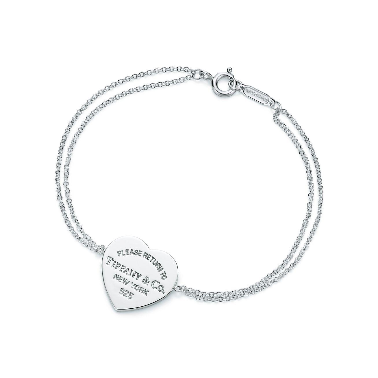 Tiffany Heart Bracelet >> Return To Tiffany Heart Tag Bracelet In Sterling Silver Medium