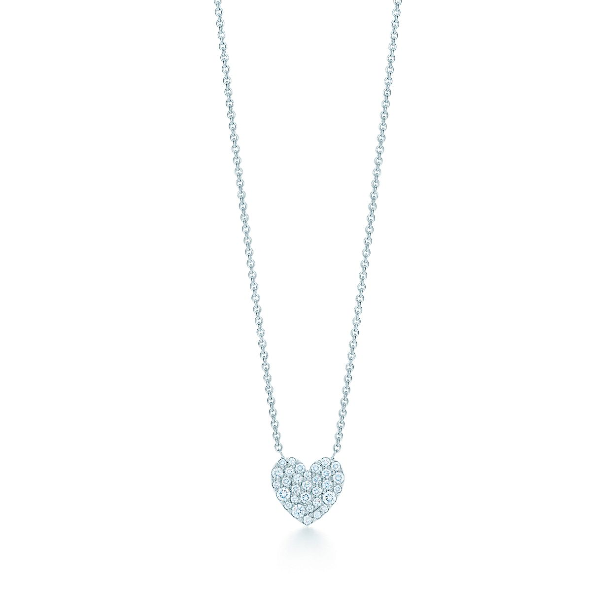 18ct white gold diamond heart necklace tiffany co heart pendant heart pendant aloadofball Choice Image