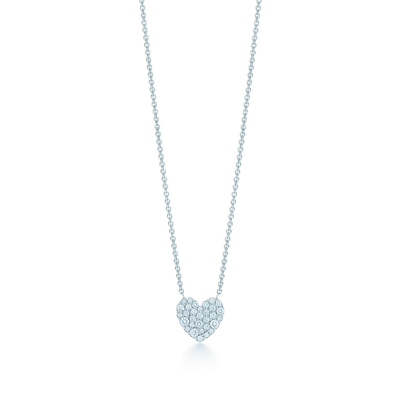 18kt white gold diamond heart necklace tiffany co heart pendant heart pendant mozeypictures Images