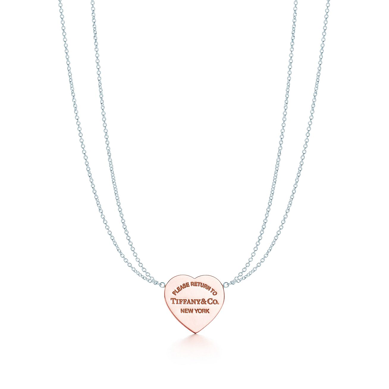 Return to tiffany heart pendant in silver and rubedo metal small return to tiffanyheart pendant aloadofball Image collections