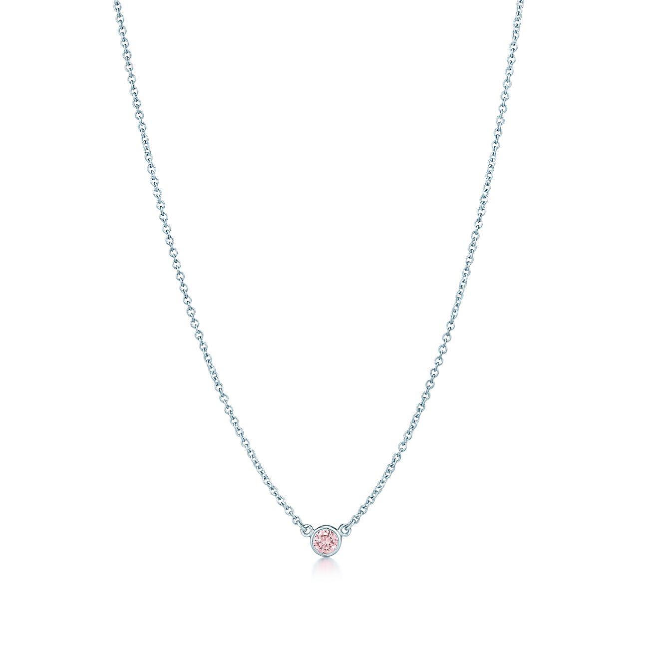 Elsa Peretti® Diamonds by the Yard® pendant with a Fancy Pink ... b68638cbbf74