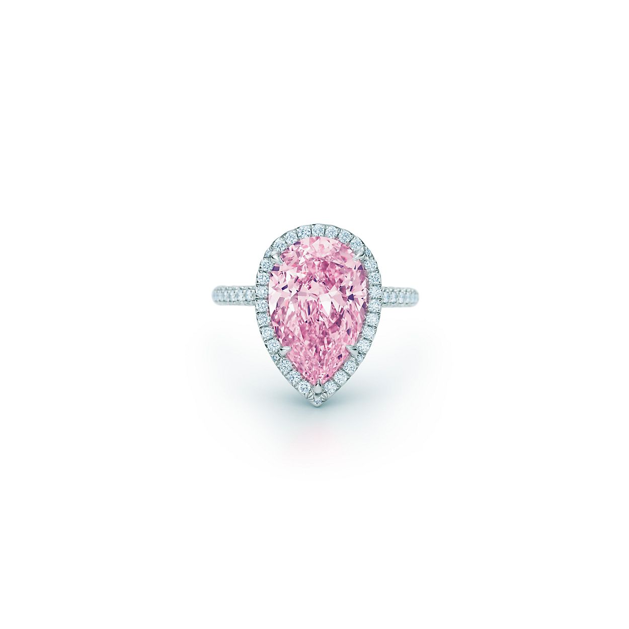 jewellery sweet diamond halo with double pink layer engagement shank split rings