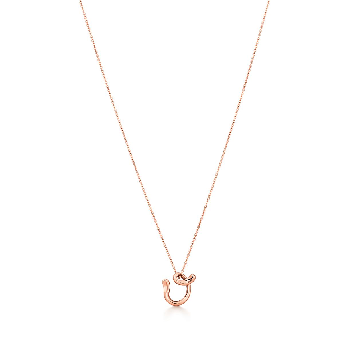 Elsa Peretti Alphabet pendant in 18k rose gold Letters A-Z available - Size W Tiffany & Co. x36YdBy
