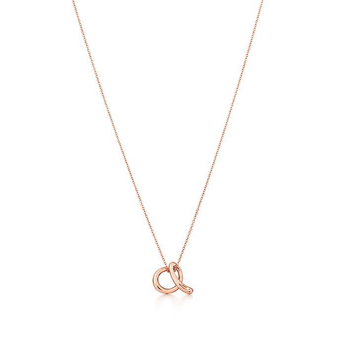 d1f1028c3 Elsa Peretti® Alphabet pendant in 18k rose gold. Letters A-Z ...