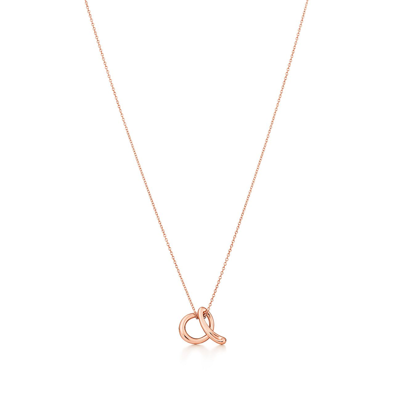 Elsa Peretti Alphabet pendant in 18k rose gold Letters A-Z available - Size E Tiffany & Co.