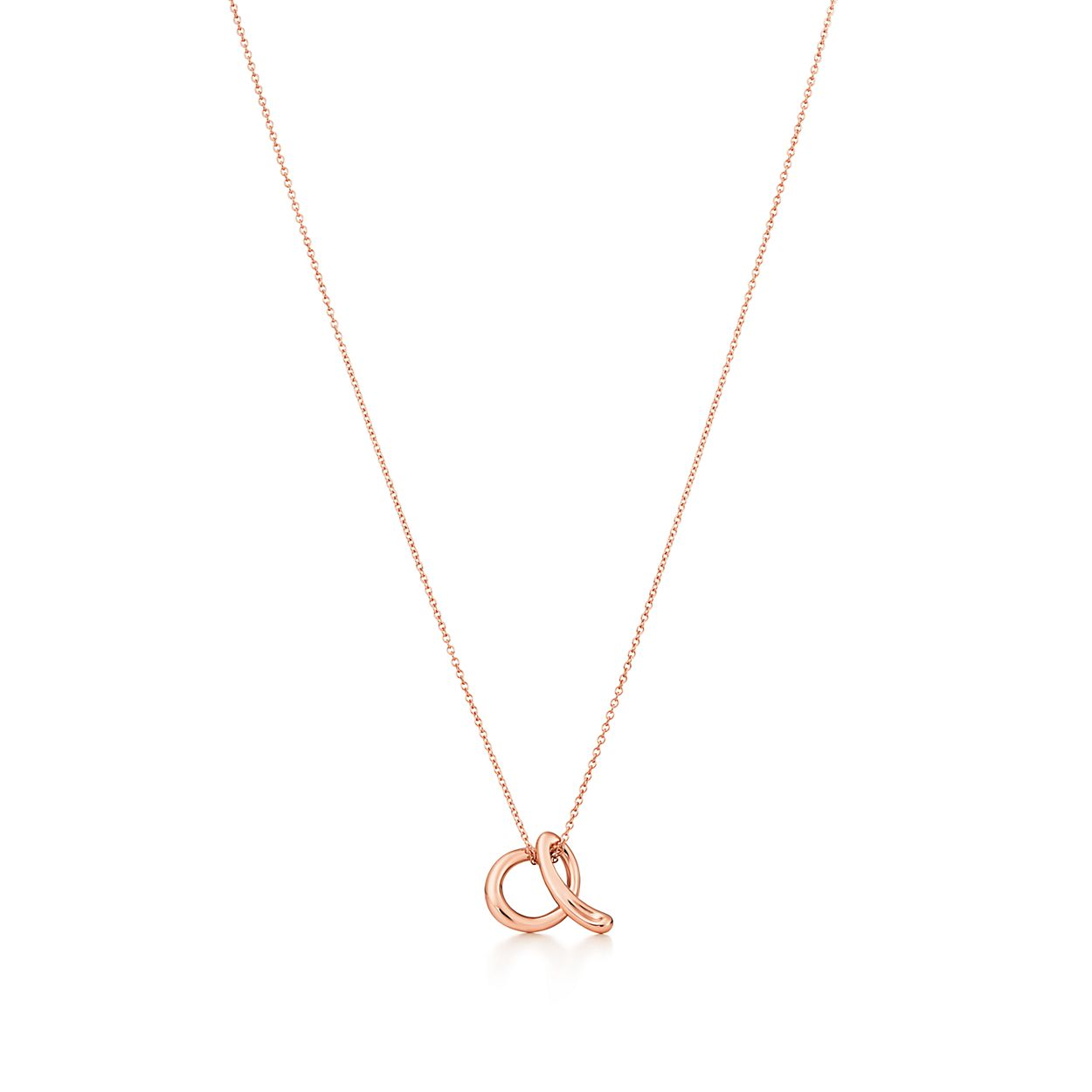 Elsa Peretti Alphabet pendant in 18k rose gold Letters A-Z available - Size E Tiffany & Co. NdFYkTly0d