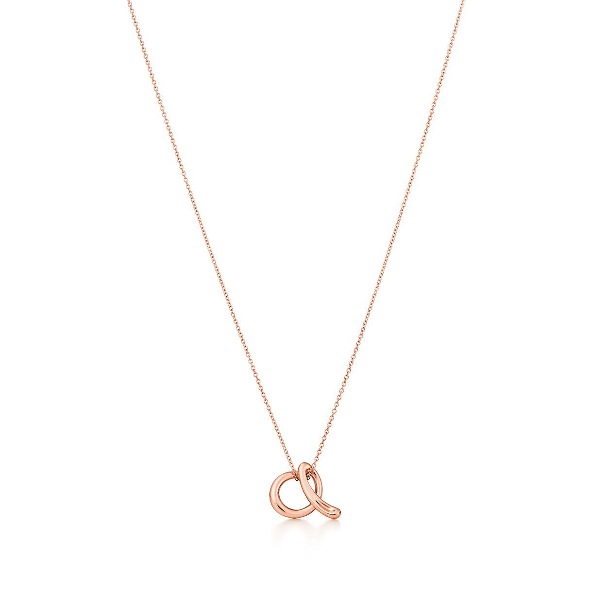 Elsa Peretti® Alphabet pendant in 18k rose gold. Letters A-Z ... 119b1d86b