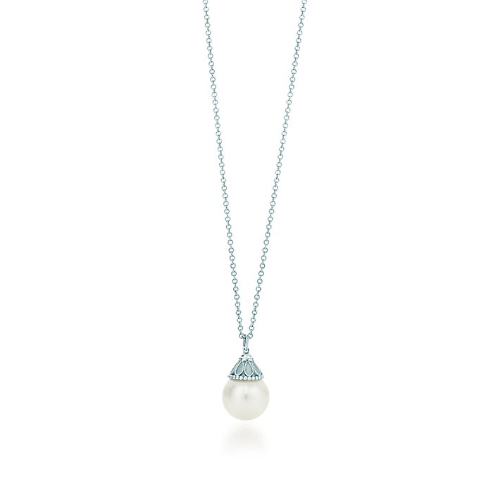 4aed72769 Ziegfeld Collection pearl pendant in sterling silver.   Tiffany & Co.