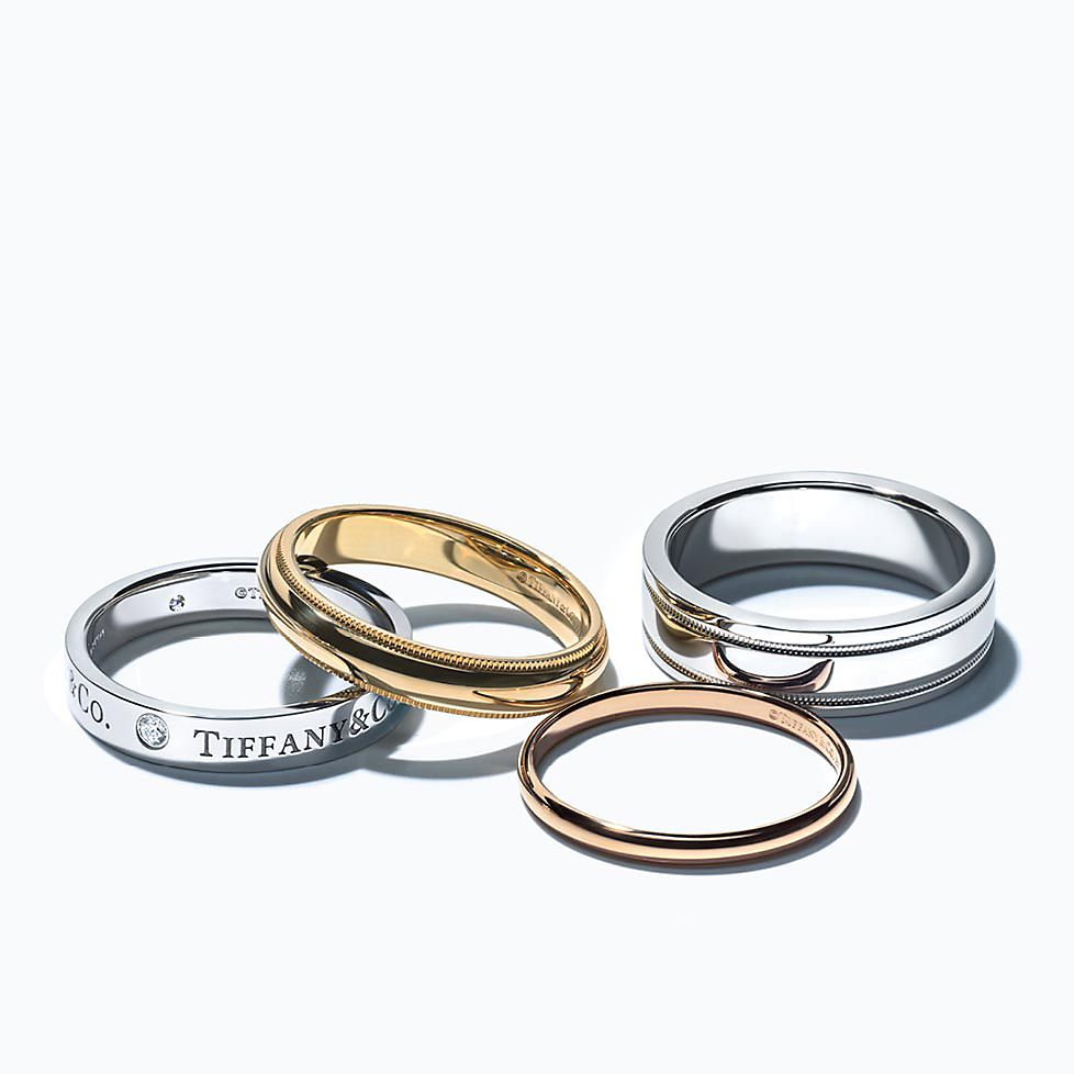commitment band finish media matte white ring tone bands mens rings yellow ladies or wedding gold