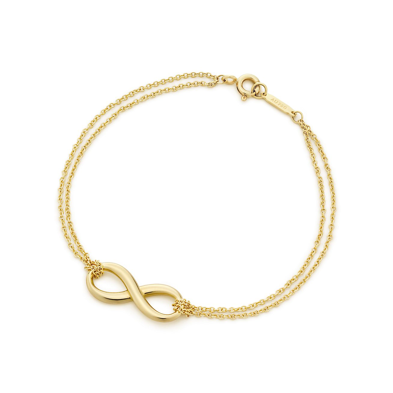in gold yellow necklace infinity