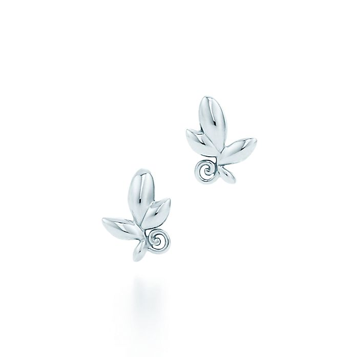 22e0201f0 Paloma Picasso® Olive Leaf earrings in sterling silver. | Tiffany & Co.