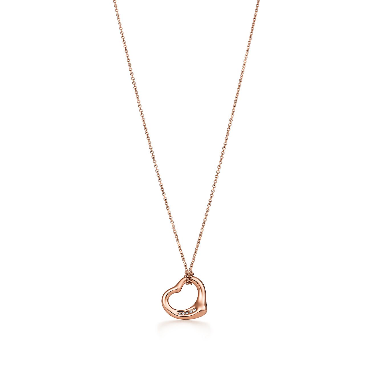 Elsa Peretti Open Heart pendant in 18k rose gold Tiffany & Co.