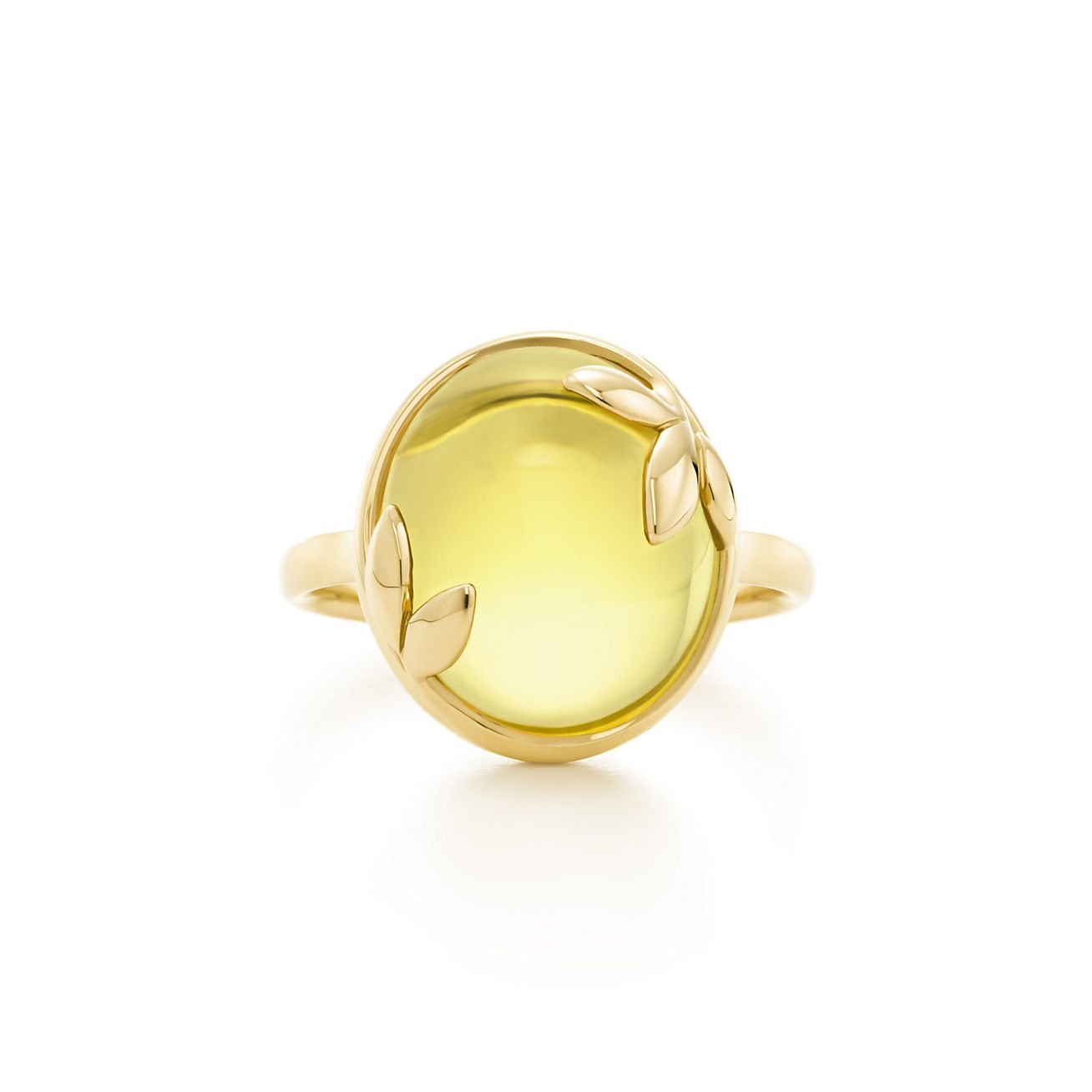 Paloma Picasso Olive Leaf ring in 18k gold with a citrine - Size 6 Tiffany & Co.