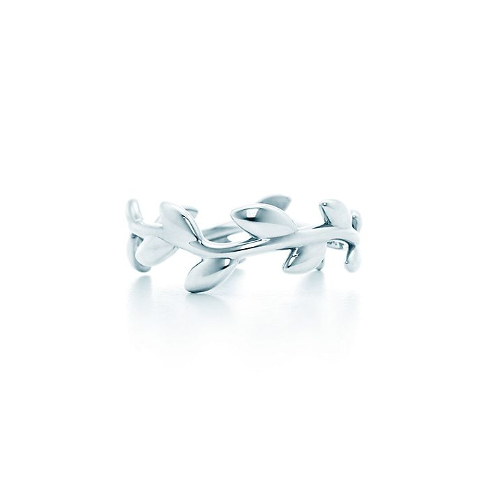 0c3f19fa9 Paloma Picasso® Olive Leaf narrow band ring in sterling silver ...