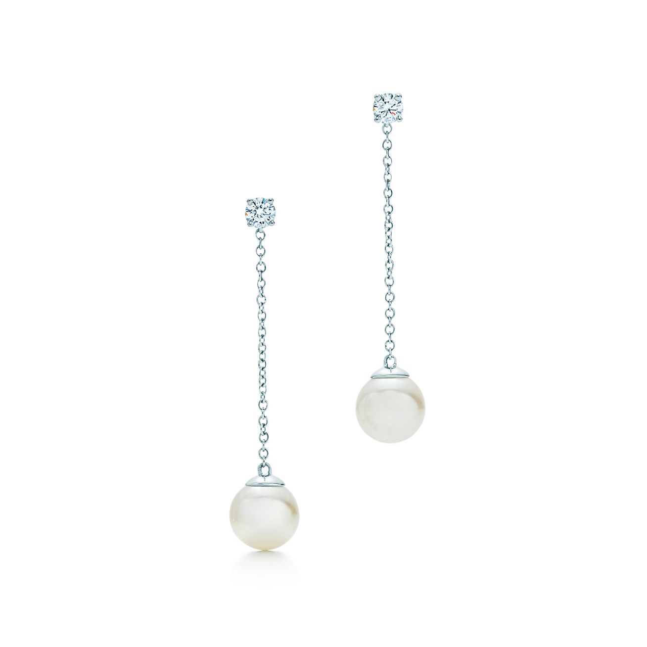 Tiffany Signature Pearls Drop Earrings