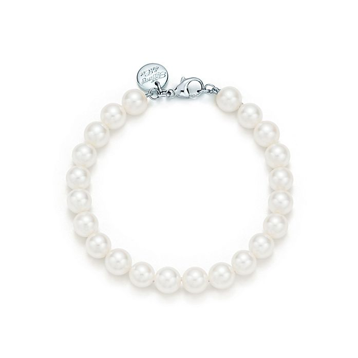 7c151c18f75f8 Tiffany Essential Pearls bracelet of Akoya pearls with an 18k white ...