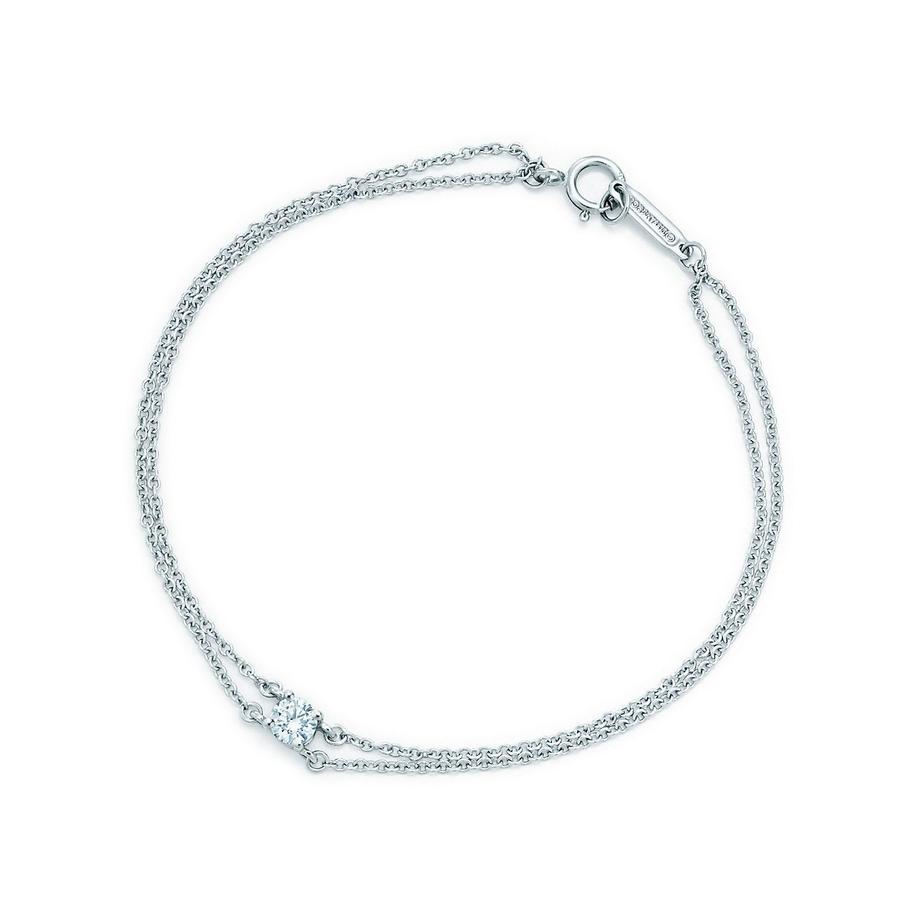 Tiffany Hearts bracelet in platinum with diamonds - Size 6.25 IN Tiffany & Co.