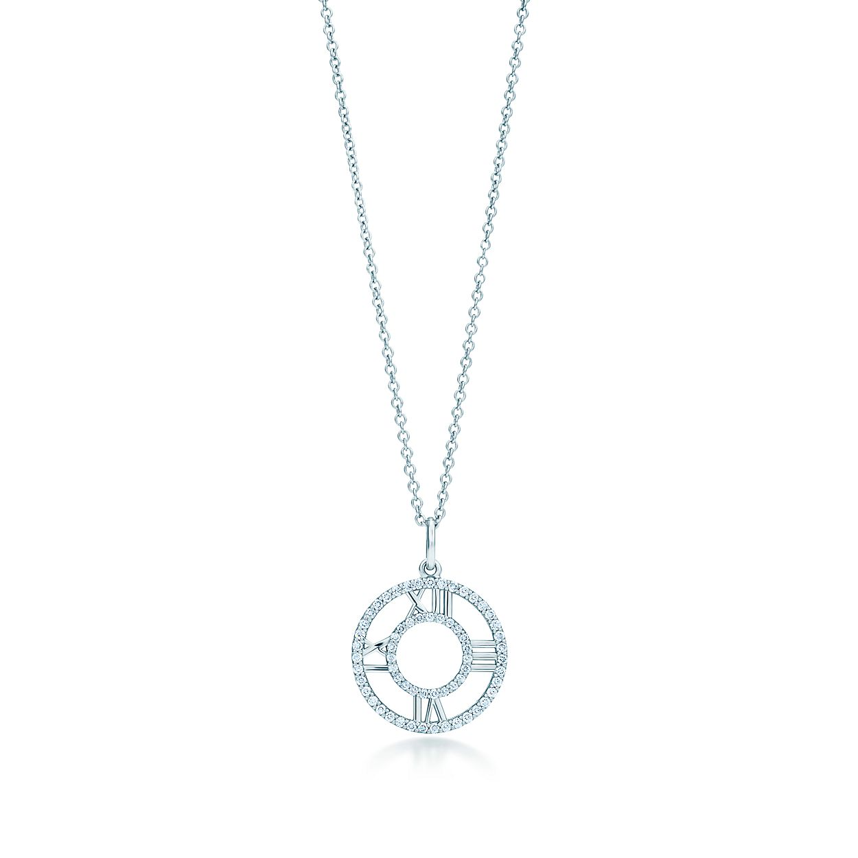 Atlas open pendant in 18k white gold with diamonds small atlasopen pendant atlasopen pendant aloadofball Choice Image
