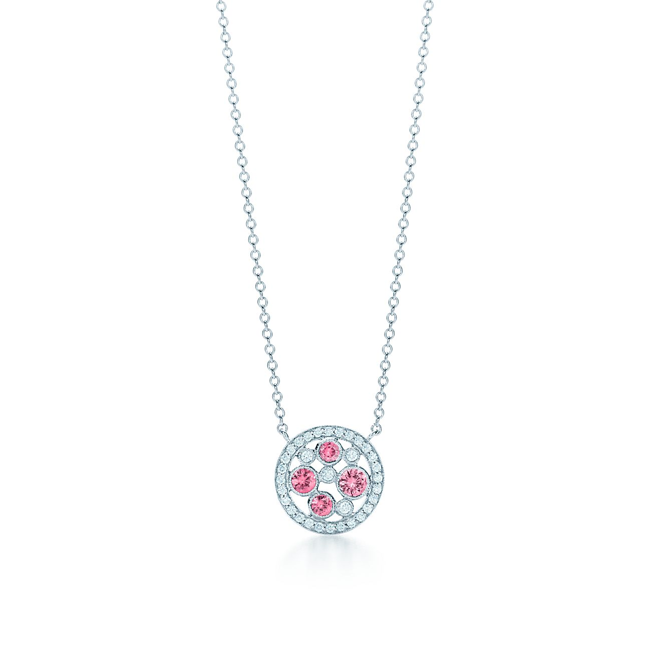 a5f675571 Tiffany Cobblestone Pendant In Platinum With Pink Sapphires