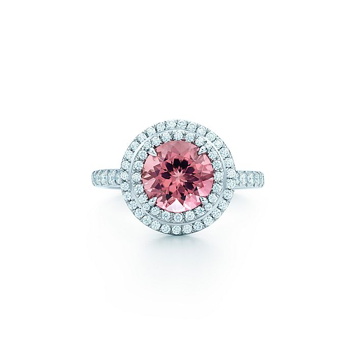 0f8ebba81 Tiffany Soleste ring in platinum with diamonds and a pink tourmaline ...