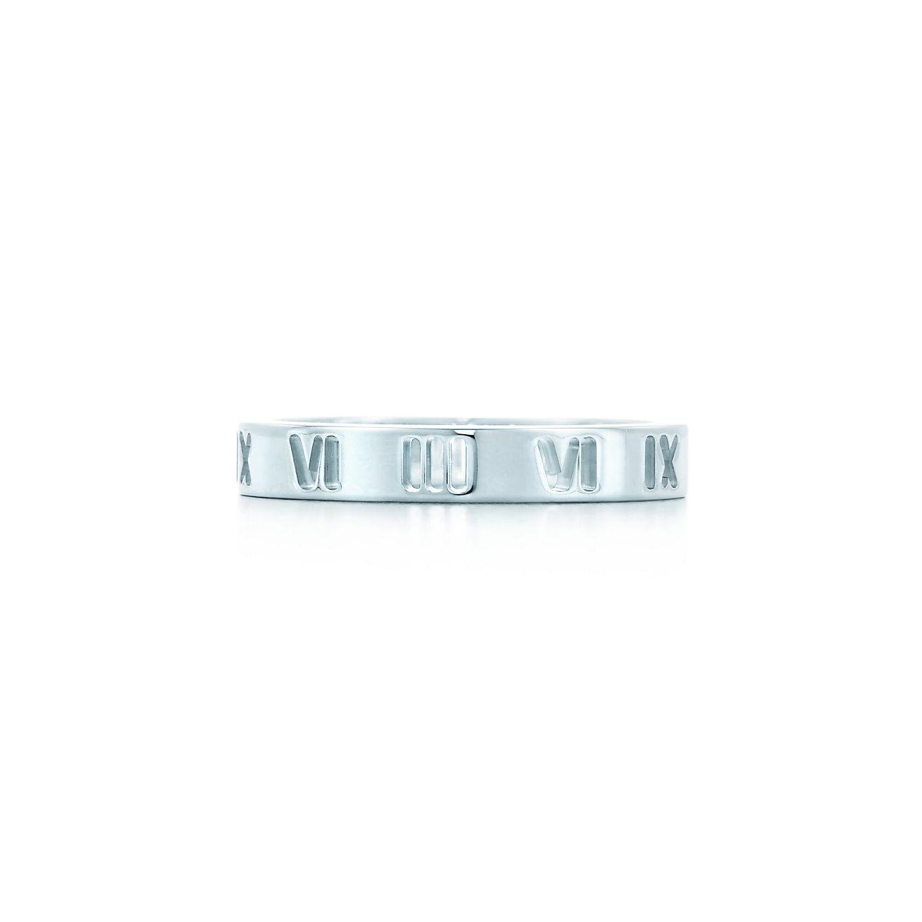 Atlas narrow ring in sterling silver - Size 5 1/2 Tiffany & Co.