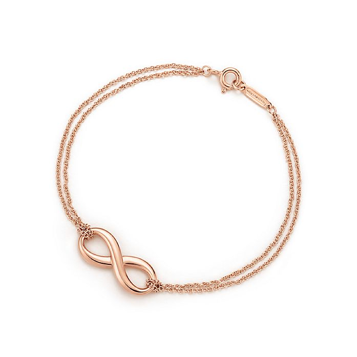 0e9d0420c Tiffany Infinity bracelet in 18k rose gold, medium. | Tiffany & Co.