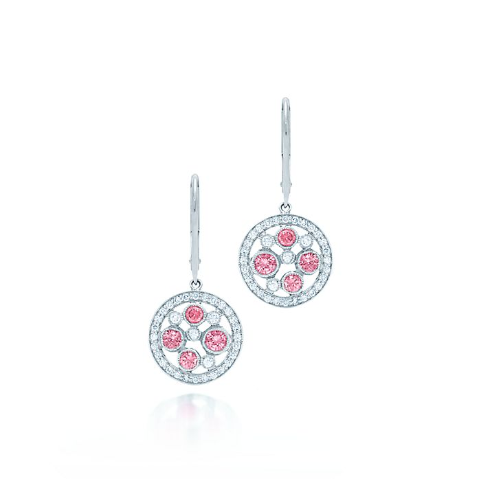9f99dcd5a Tiffany Cobblestone earrings in platinum with pink sapphires ...