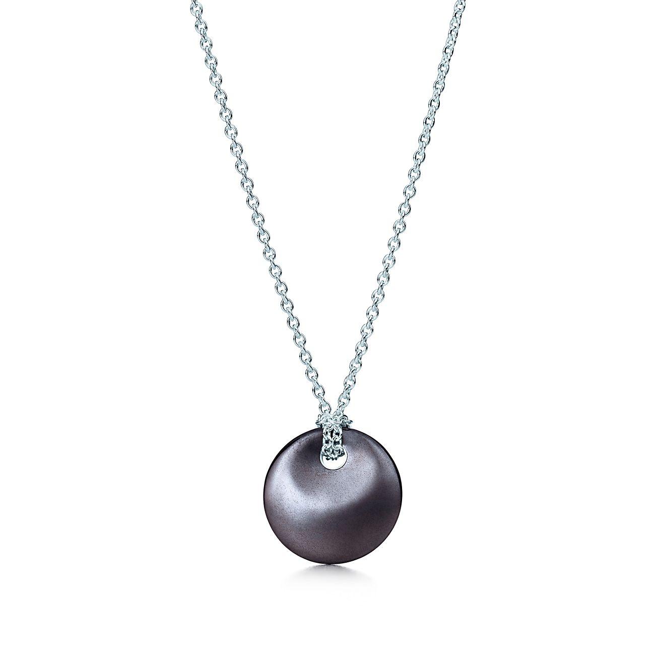 Elsa peretti round pendant of hematite and sterling silver elsa perettiround pendant aloadofball Images