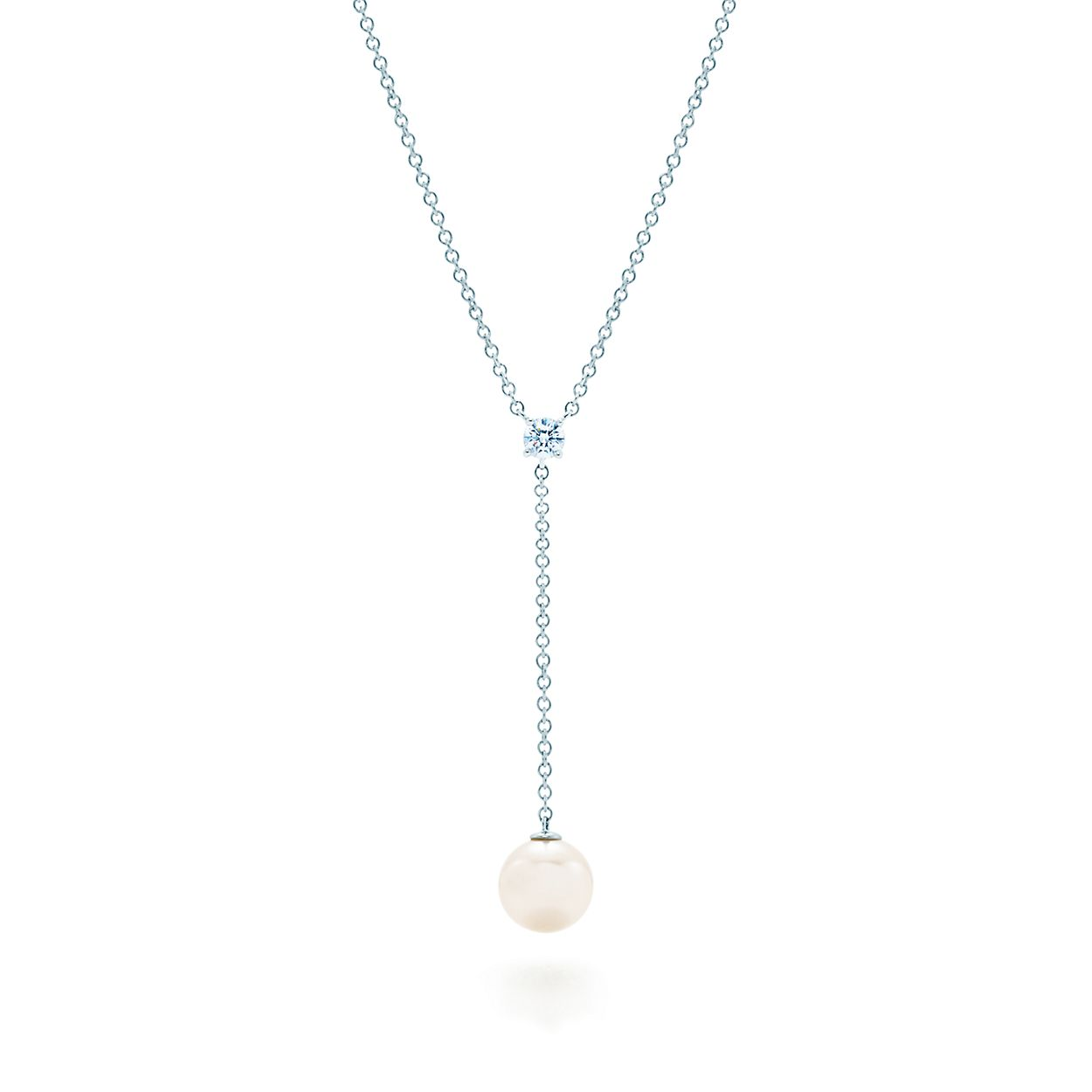 Tiffany signature pearls drop pendant in white gold with a pearl tiffany signature pearlsdrop pendant aloadofball Image collections
