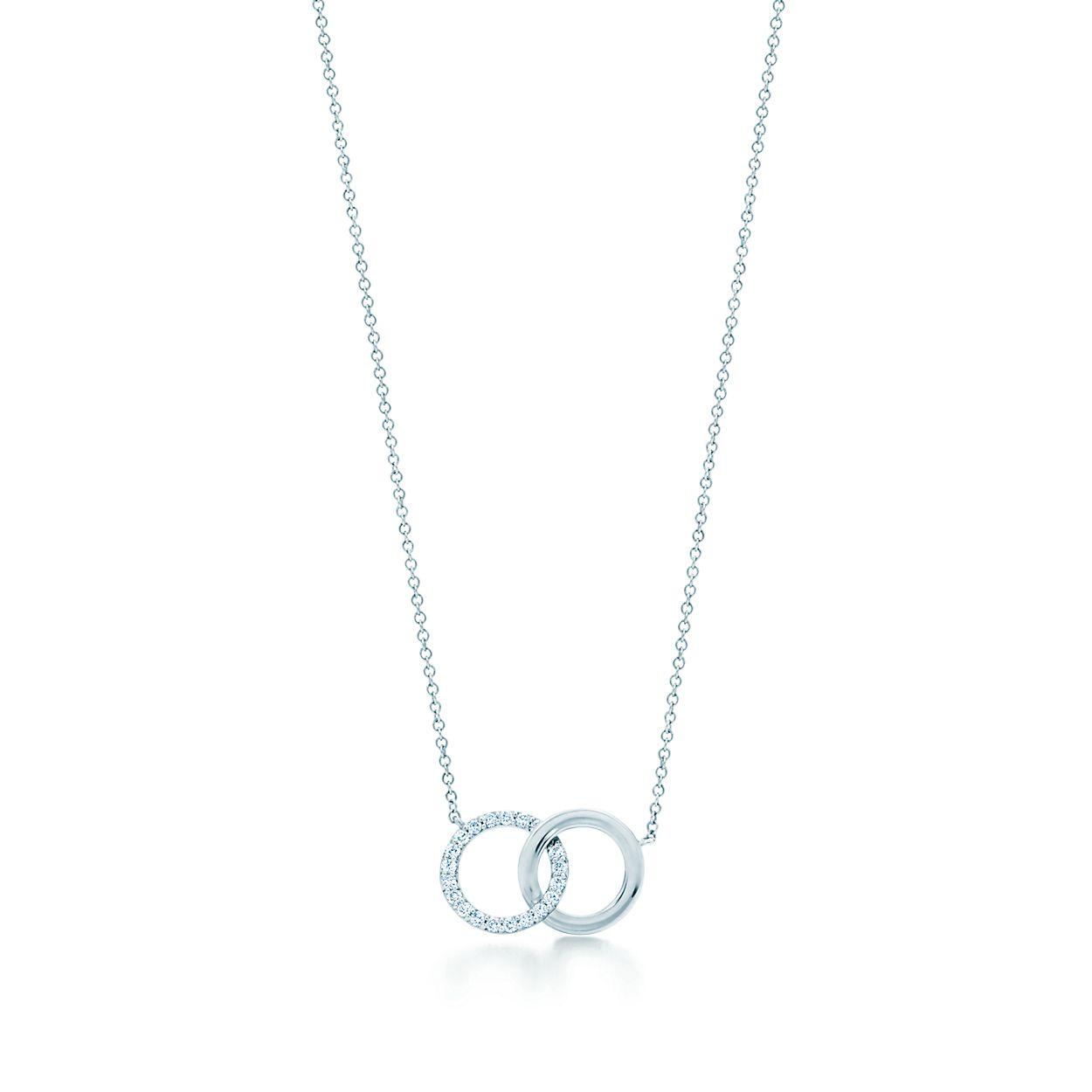 43e5506fe Tiffany 1837 Interlocking Circles Pendant In 18k White Gold With