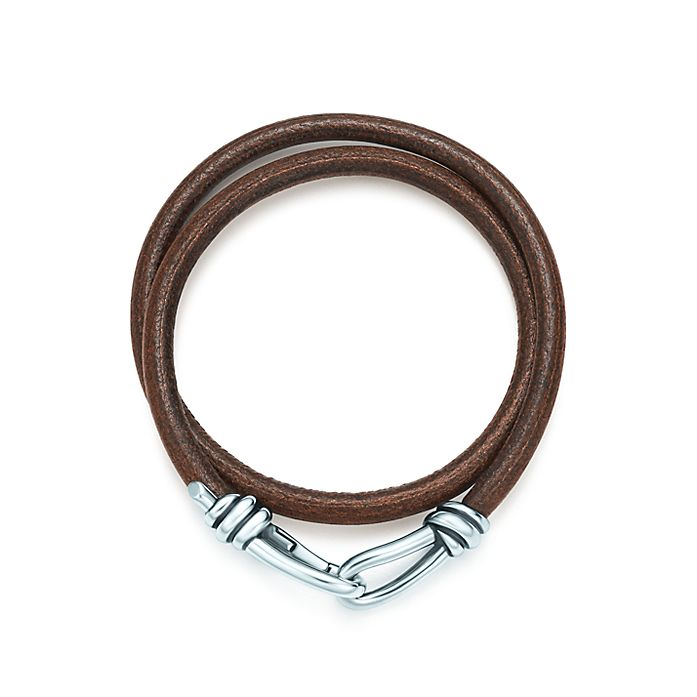 6b07e3f7c Paloma Picasso® Knot double braid wrap bracelet of leather and ...